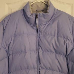 LL Bean  purple & grey puffer jacket pockets 2x